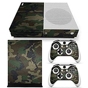 Microsoft XBOX ONE S Skin Design Foils Aufkleber Schutzfolie Set – Camouflage 3 Motiv