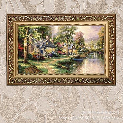Stile europeo decorativa paesaggio dipinto ad olio Home Hotels Club disegnare portico di camera da letto soggiorno appeso pittura,50 * 70