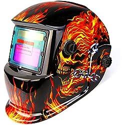 DEKO Masque de Soudure d'assombrissement Automatique Actionné Solaire de Casque,avec la Gamme réglable d'ombre 4/9-13 pour Masque de Soudure d'arc de Tig de Mig