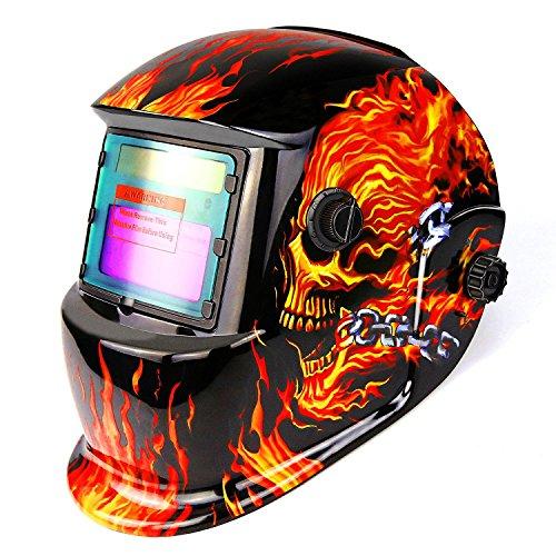 Casco de oscurecimiento automático accionado por energía solar del casco con la...