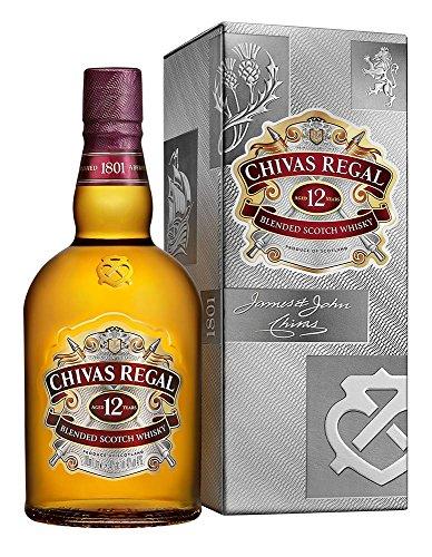 Chivas Regal 12 Jahre Premium Blended Scotch Whisky/12 Jahre gereifter Blend aus schottischen Malt & Grain Scotch Whiskys aus der Region Speyside/1 x 1 L