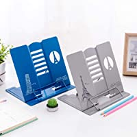 Gracious Mart - Multi Functional Desk Book Reading Metal Bookshelf Book Stand Holder Study Bookends Stationery…