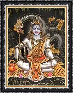 Avercart Lord Shiva / Shree Shankar / God Shiva / Mahadev Poster 12x16 inch with Photo Frame (30x40 cm framed)