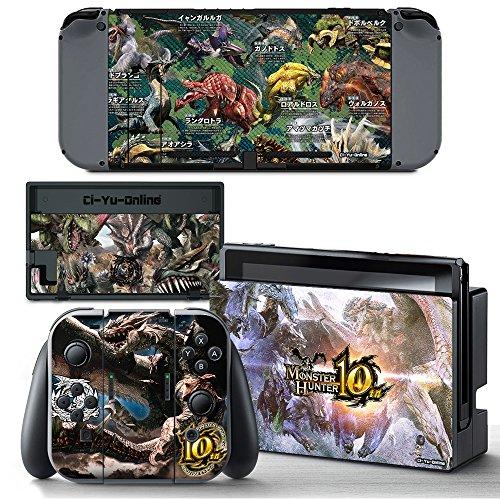 Ci-Yu-Online Aufkleber für Nintendo Switch Console und Joy-Con Controller (englischsprachig)