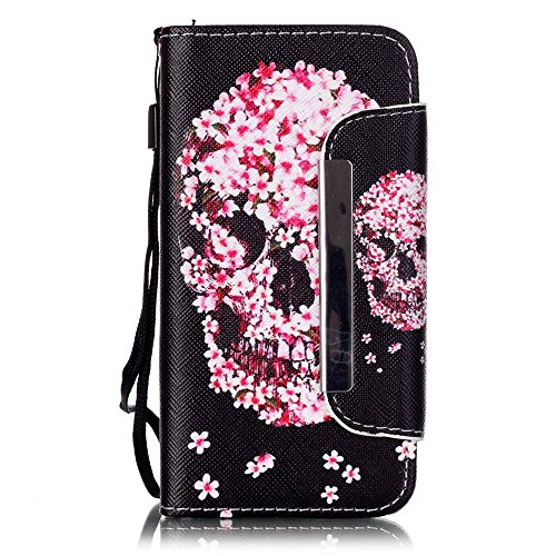 Nancen Compatible with Handyhülle iPhone 5 / 5S / SE (4,0 Zoll) Leder Hülle/Case. PU Flip-Case Lederhülle Handyhülle Brieftasche Tasche (Rosa Iphone 5s Armband)