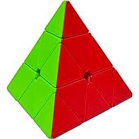 Maomaoyu Pyramide Cube Pyraminx Magic Cube 3x3 3x3x3 Stickerless Puzzle Cube de Vitesse Magique Cadeau de Vacances pour…