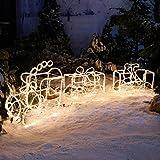 Gärtner Pötschke LED-Weihnachtszug mit 2 Waggons