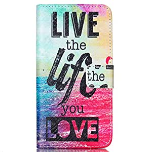 HTC Desire 626s Case,Desire 626 Case,JanCalm [Kickstand] Pattern PU Leather Wallet [Card/Cash Slots] Flip Cover for HTC Desire 626/626s *Including-ONE Crystal Pen (Live The Life You Love)
