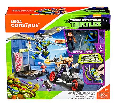 Mega Construx Ninja Turtles–DXY15 –Verfolgung im Segelflugzeug (Französische Version) (Mini-ninja Turtles)