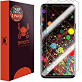 Skinomi TechSkin - Protection d'écran invisible pour Samsung Galaxy S9 | couvre l'écran - adapté pour une utilisation avec housse, lot de 2