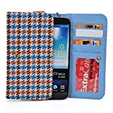 kroo Orange Houndstooth juning 6.0 Unlocked Android Phone phablet Cases | Mini Clutch