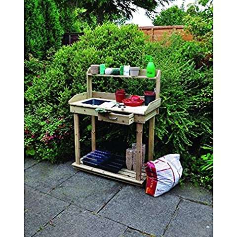 Wooden Potting Plant Flower Staging Table Greenhouse Bench Yard Garden Home Wood