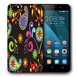 Snoogg Multicolor Abstract Pattern Printed Protective Phone Back Case Cover For Huawei Honor 4X