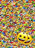 Emoticon / Emote / Emoji Gift Wrap (2 Sheets + 2 Gift Tags) Wrapping Paper