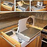 Allesschneider AES 62 S zum Einbau in Schubladen ab 45 cm Korpusbreite Schneidgut RECHTS geführt in Silbermetallic Brotschneidemaschine einklappbar Küche Multischneider