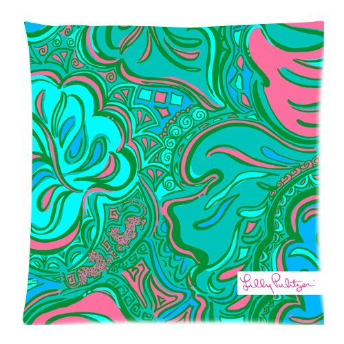 Lilly Pulitzer Fashion beautiful Pillow Case Pillow Cover 18 x 18 Inch Lilly Pulitzer Kinder