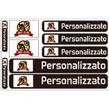 Haberdashery Online Kit 9 Adesivi Personalizzati con Bandiere, per Biciclette, Moto, Macchine ed Altri Oggetti (Nero)