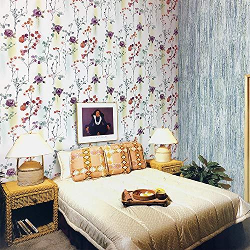 Tuschemalerei, feine Pinselführung, Blumentapete, blaue Blumenniederlassung, trockenes Haarbürste, Tapete, chinesische Artdekorationraum T