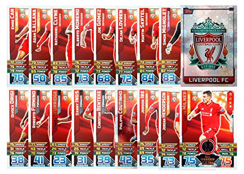 MATCH ATTAX 2015 2016   LIVERPOOL FC 17 BASE CARDS   CLUB BADGE