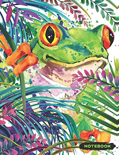 Boss Frog (Notebook: Red Eye Tree Frog Lined Journal, Composition Notebook, Ruled Lines)