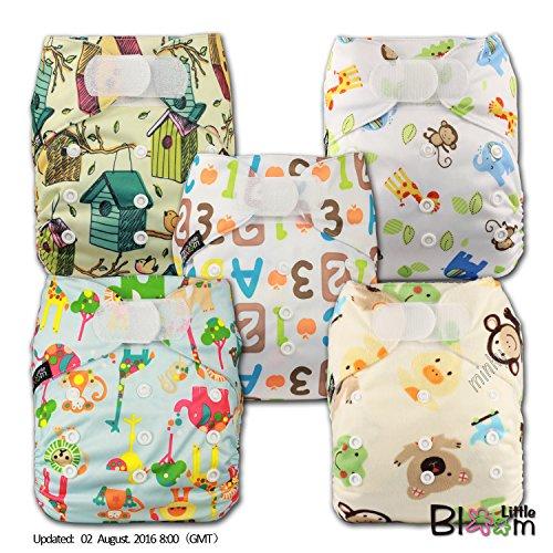 littlebloom-panno-pannolini-lavabili-tasca-pannolino-riutilizzabile-di-fissaggio-hook-loop-set-di-5