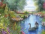5D-Strassstein-Gemälde, Bastelset mit Kunstharzsteinchen, zum Selbergestalten, pefekte Geschenke zur Dekoration, Mosaik-Set mit komplettem Zubehör, Landscape, 50x60cm