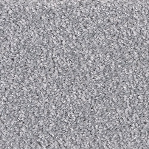 Teppichboden Auslegware Meterware Hochflor Langflor Velour meliert grau hell 400 cm und 500 cm breit, verschiedene Längen, Variante: 6 x 4 m