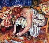 Das Museum Outlet–Frau Schuh Syndicate von Renoir–Leinwand Print Online kaufen (101,6x 127cm)