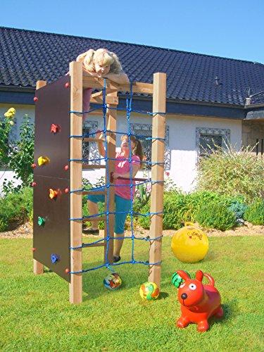 Multi Spiel Anlage Mit Reckstange, Leiter, Kletterwand Und Kletternetz