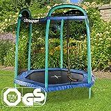 Ultrasport Gartentrampolin Jumper Sechseck 213 cm inkl. Sicherheitsnetz -