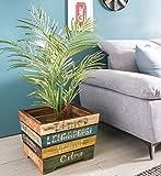 Wohnling Holzkiste SURAT 40x35x45 cm Kiste Holz Groß Beistelltisch | Holzbox Vintage Dekobox | Aufbewahrungskiste Massivholz Kiste | Holz Box Shabby Chic Bunt