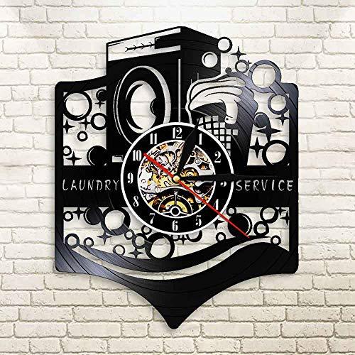 EPSMK Reloj Pared 3D Lavadero Lavadora Cartel Retro Vinilo Pared ...