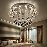 Moderne kreative Designer Neue/LED Deckenleuchte/Luxus K9 Crystal Deckenleuchte moderne E14 Beleuchtung minimalistischen Circular 90 V/260 V, 80 cm