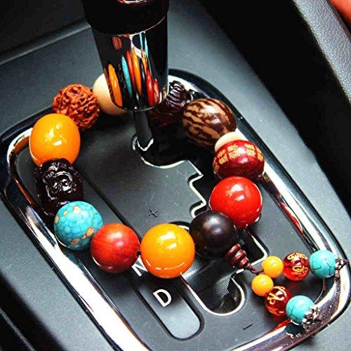 uddha Perlen Bodhi Ornaments Gear Perlen Sicherheit Car Interior Produkte Kreative Auto Ornamente ()