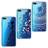ivencase 3x Coques 3 en 1 Coque Honor 9 Lite, Huawei Honor 9 Lite Étui TPU Silicone Souple Coque Clair Transparent Cover Ultra Mince Housse Protection Anti Rayures