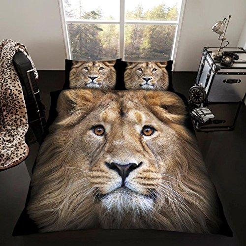 Löwe Einzelne Bettbezug und Kopfkissenbezug - Lion Bettbezug