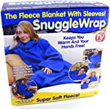 Adult snuggle wrap blanket with sleeves - Pink