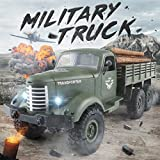 ❤️ GreatestPAK Remote Control Trucks, JJRC Q60 RC 1:16 2.4G 6WD Tracked Off-Road Military Car RTR Toys Gift For Boys Girls Adults (Green)