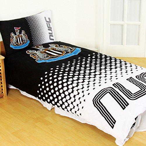 Team Reversible Single Bettbezug und Kissenbezug Set (verschiedene Vereine zur Auswahl.), Newcastle United FC, Single Duvet (Theme Park-events)