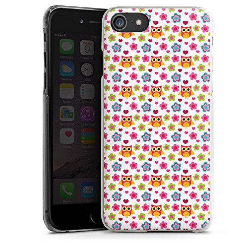 Apple iPhone X Silikon Hülle Case Schutzhülle Eulen Bunt Muster Hard Case transparent