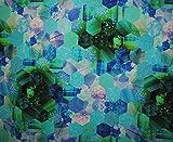 3 m * 1,4 m - Stoff - Baumwollstoff - Kristall Fantasie