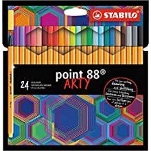 STABILO Fineliner - Point 88 Wallet of 24 Assorted Colours
