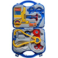 WON World of Needs Doctor Plastic Playset Kit with Foldable Suitcase, Compact Medical Accessories Toy Set Pretend Play Kid
