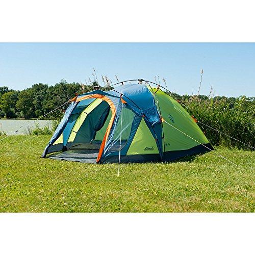 Coleman Fast Pitch Drake, Zelt 4 Personen, 4 Mann Zelt, Igluzelt, Festivalzelt, leichtes Kuppelzelt mit Vorzelt, eine Schlafkabine, wasserdicht WS 3.000 mm - 7