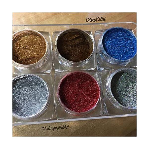 AIMEILI 6 colors Polvo Acrilico Para Uñas Colores Esmalte Uñas Efecto Espejo Arte de Uñas Cromo Pigmento Holográfica…