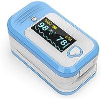 Saturimetro da dito Professionale certificato, MED LINKET AM801 5 in 1 Pulsossimetro da dito, SpO2, Temperatura…
