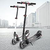 E-Scooter eFlux Lite 5 350W Elektro Aluminium Faltbarer Elektroroller Tretroller Roller Ultraleicht 10,4Ah Lithium Ionen Akku (Schwarz)
