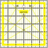 Quilting Patchwork Ruler Craft Square Imperial - 6' x 6'
