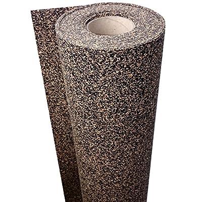 1 m² / Gummikork (Rubbercork) Akustik Trittschalldämmung und Gehschalldämmung für Laminat, Parkett, Kork und Vinylböden - Auch für Auslegware z.B. Teppichböden geeignet - Stärke: 3 mm - Trittschalldämmung ca. 20 dB(A) - Wir machen Ihren Boden Lei
