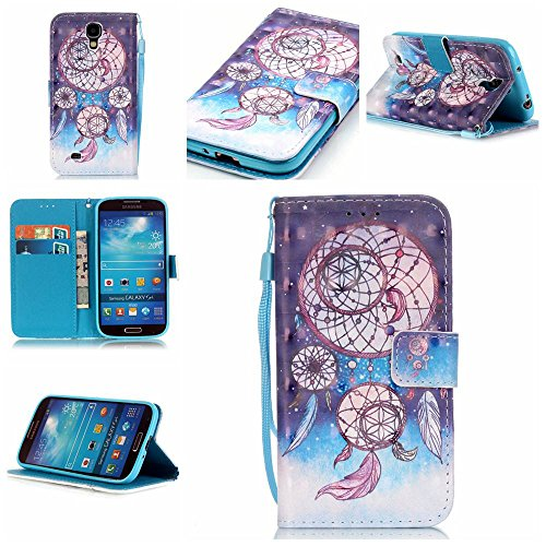 Qiaogle Téléphone Coque - PU Cuir rabat Wallet Housse Case pour Samsung  Galaxy S4 / i9500 / i9505 / i9506 (5 Pouce) - YB16 / Dream Catcher + coloré